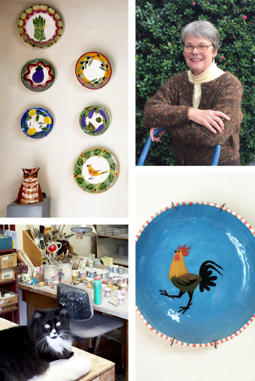 K. DeBord hand-painted Pottery in Carmel Valley