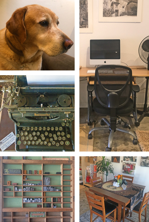 Collage of photos of the interior of Carmel Valley Business Center