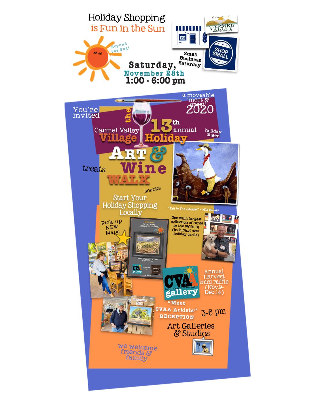 Carmel Valley Village Art and Wine Walk 2020